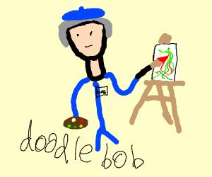 doodle bob in an art museum