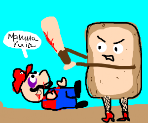 Pop-Tart assaults Mario