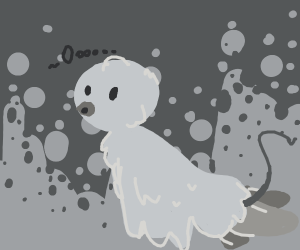 Ghostly bird