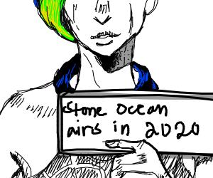 Jolyne confirming Stone Ocean for 2020