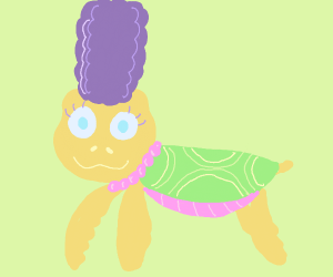 Marge Simpson as a turtle