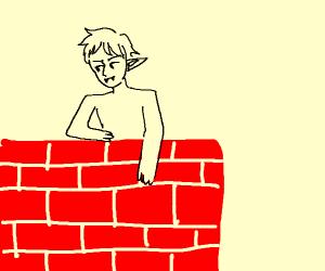 Vampire hopping the wall