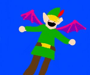 Happy elf with wings that is young