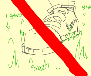 Don't walk on my grass