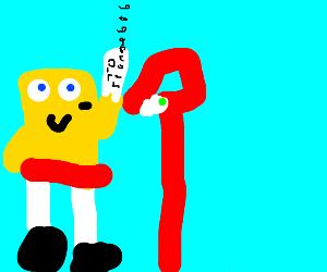 Spongebob gets the mail