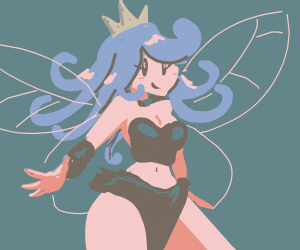fairy with a crown