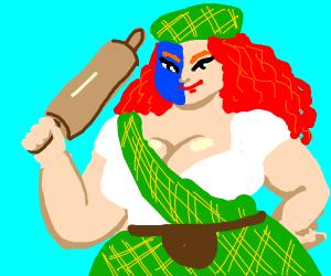 Scottish female warrior