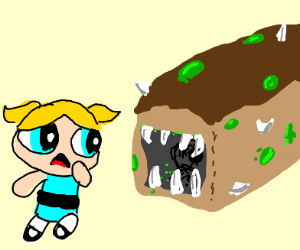 bubbles and a bread monster (ppg)