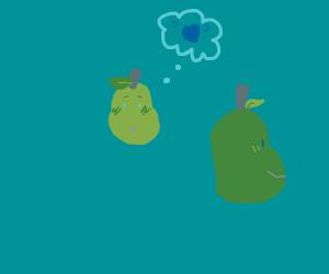 shy pear in love