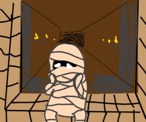 sad mummy