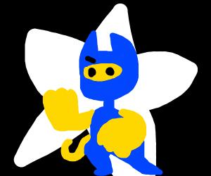 blue ninja (superhero?) cat