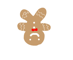 Inverted Gingerbread Man