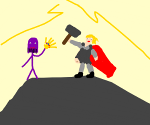 Stickman thanos vs fat thor