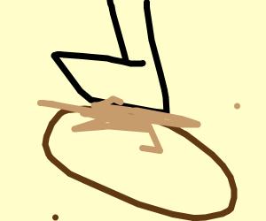 potato man got squashed. :,(