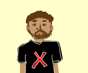 Guy With X On His Shirt