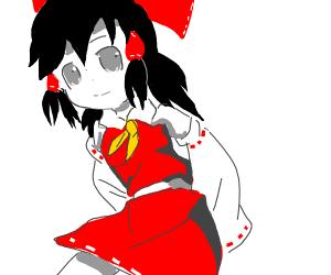 Anime girl wearing Red