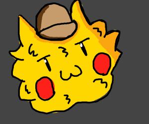 detective pikachu furrowed face