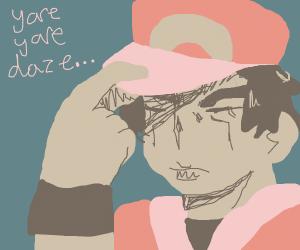 Pokemon Trainer red but its Jojo