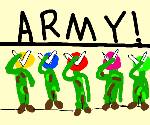 Power rangers is in army