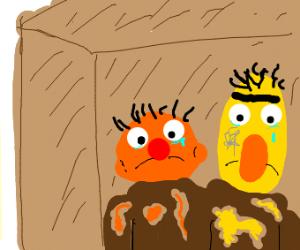 Homeless Burt and Ernie