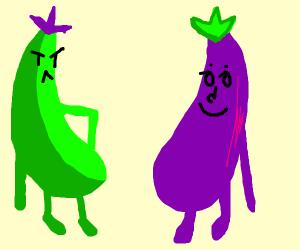 green eggplant hates normal eggplant