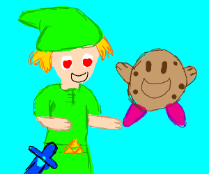 link falls in love with cookie kirby