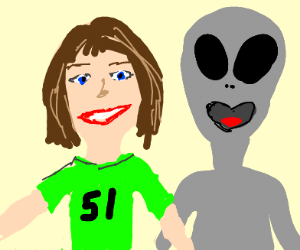 Exiting area 51 with your new alien bestie