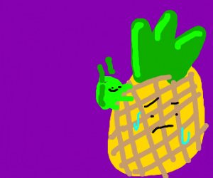 green bug on pineapple