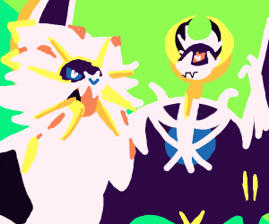 solgaleo and lunala (pokemon)