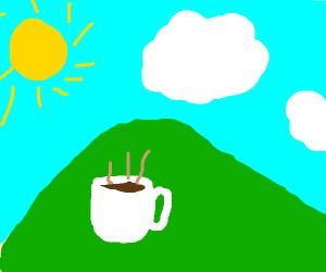 Coffee inside a hill
