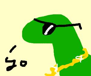 dinosaur with swag