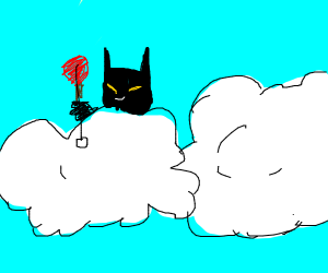 Batman playing in the Clouds