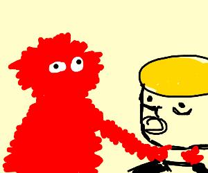 Elmo strangles trump