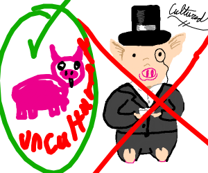 an uncultured swine