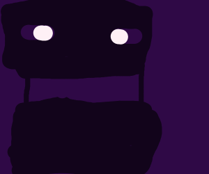 Enderman is unhappy