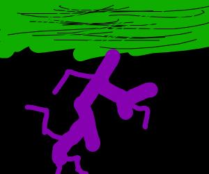Forget purple rain, here's purple lightning!