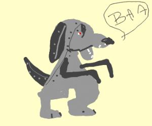 Giant robot dog says 'baa'