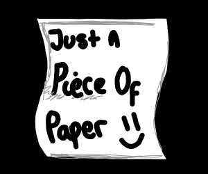 Piece of paper.