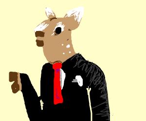 Deer in a business suit
