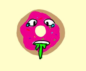 A sick donut