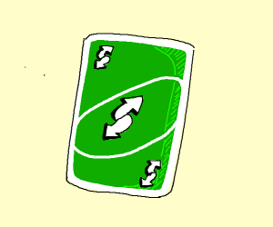 Revese uno card