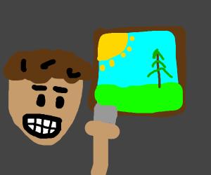 Man likes painting