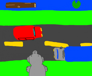 Frogger, but with an elephant