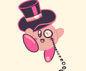 Kirby w/ Top hat and monocle