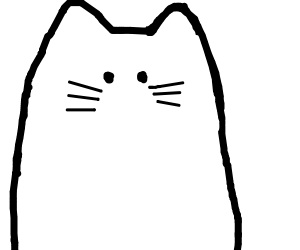 scribbley kitty looks at you