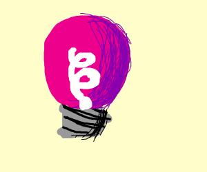 Pink/Purple Lightbulb