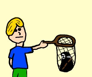 Blonde caught a reaper