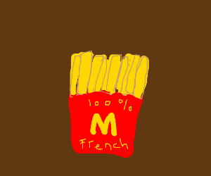 french french fries 100 percent french