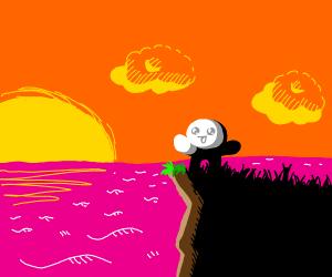 cute  TheOdd1sout watching sunset