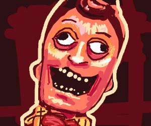 scary bighead man